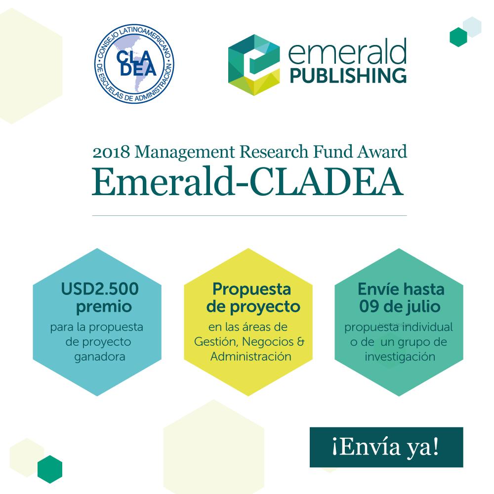 ¡PARTICIPE EN EL 2018 EMERALD-CLADEA AWARD!
